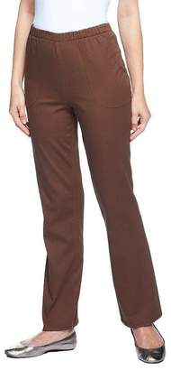 "Denim & Co. How Timeless"" Petite Stretch Boot Cut Pants w/ Side Pockets"