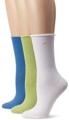 Calvin Klein Women's Roll-Top Socks (Pack of Three)