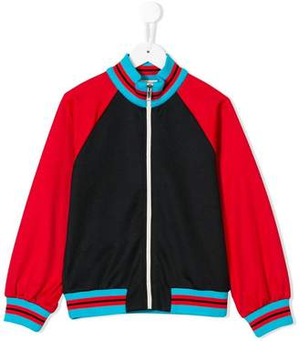 Gucci Kids colour block bomber jacket