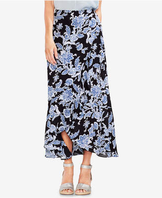 Vince Camuto Printed Faux-Wrap Maxi Skirt