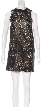 Thomas Wylde Leather Mini Dress