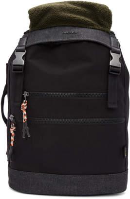 Diesel Black and Khaki F-Urbhanity II Backpack