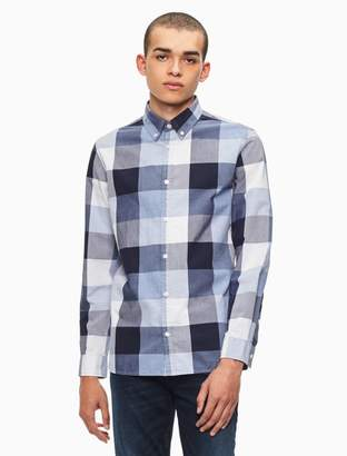 Calvin Klein big + tall classic fit buffalo check shirt