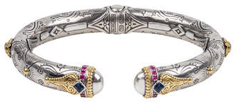 Konstantino Delos London Blue Topaz & Pink Sapphire Bracelet, Size M