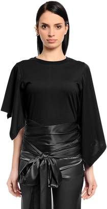 J.W.Anderson Asymmetric Draped Cotton Jersey Top