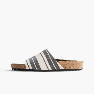 James Perse LUNA COTTON LINEN STRIPED SLIDE - WOMENS