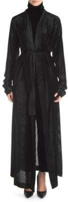 Taverniti So Ben Unravel Project Devor Velvet Stripe Silk Robe Coat