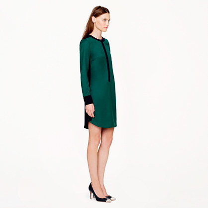 J.Crew Collection wool flannel shirtdress