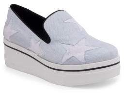 Stella McCartney Binx Denim Star Platform Sneakers
