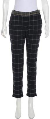 Band Of Outsiders Plaid Mid-Rise Pants