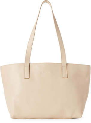 Jil Sander Navy Saffiano Leather Small Tote