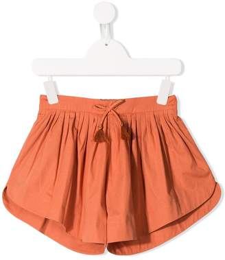 Chloé Kids drawstring pleated shorts