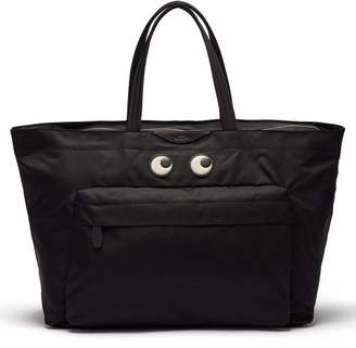 Anya Hindmarch Eyes Nylon Tote Bag - Womens - Black