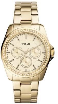 Fossil Janice Multifunction Gold-Tone Stainless Steel Watch Jewelry