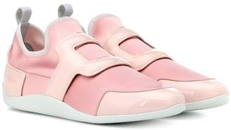 Roger Vivier Exclusive to Mytheresa – Sporty Viv leather-trimmed sneakers