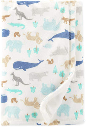 Carter's Carter Baby Boys Animal-Print Plush Blanket