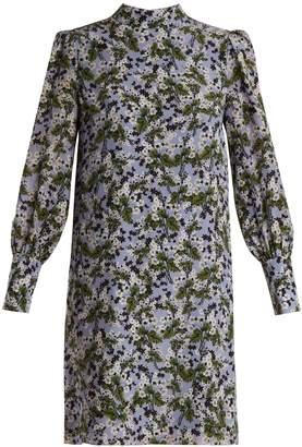 Erdem Mirela blouson-sleeved silk crepe de Chin dress
