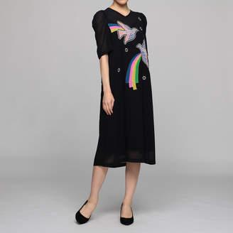 Muveil (ミュベール) - ミュベール ハト刺繍ドレス