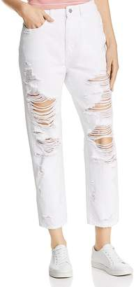 DL1961 Susie Shredded High-Rise Jeans in Cole