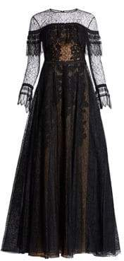 Murad Zuhair Edwardian Lace Gown