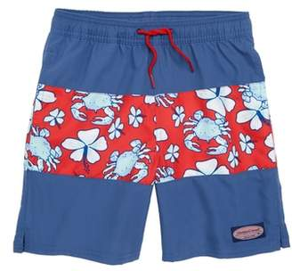 Vineyard Vines Chappy Pieced Crab Floral Swim Trunks