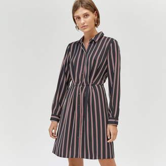 Warehouse Honey Stripe Mini Shirt Dress
