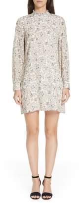Derek Lam 10 Crosby Floral Print Silk Dress