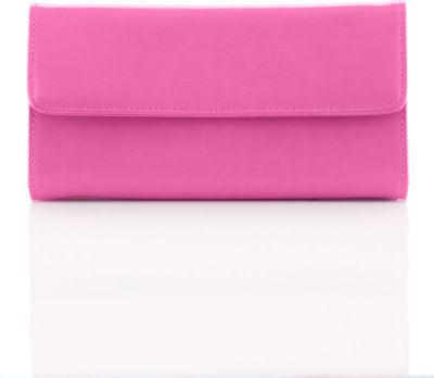 Neiman Marcus Checkbook Clutch Wallet, Pink