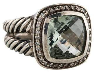 David Yurman Prasiolite & Diamond Albion Ring