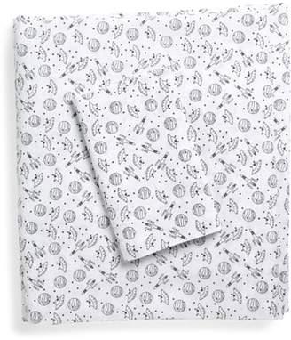 Under One Sky Print Cotton Twin Sheet Set