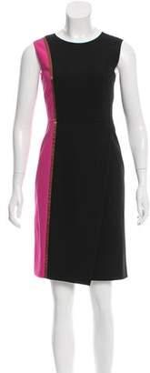 Salvatore Ferragamo Colorblock Sleeveless Dress
