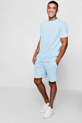 boohoo MAN Signature Sweat And Shorts Tracksuit