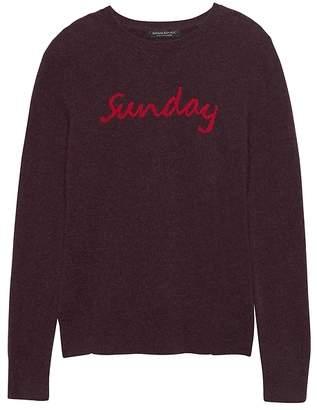 Banana Republic Cashmere Sunday Crew-Neck Sweater