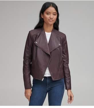 Andrew Marc Pelham Leather Scuba Jacket