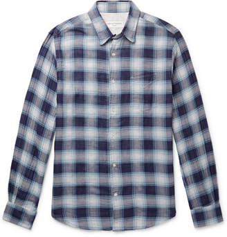 Officine Generale Benoit Checked Double-Faced Cotton Shirt