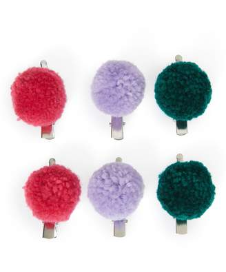 Capelli New York 6-Piece Pompom Hair Clip Set
