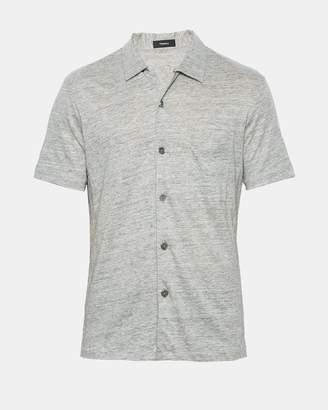 Theory Linen Knit Pocket Shirt