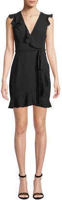 Fame & Partners Tiffany Mini Wrap Dress w/ Ruffles