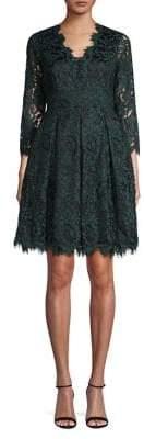 Eliza J Lace Scalloped Fit Flare Dress