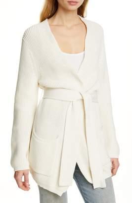 Jenni Kayne Belted Wrap Cotton Cardigan