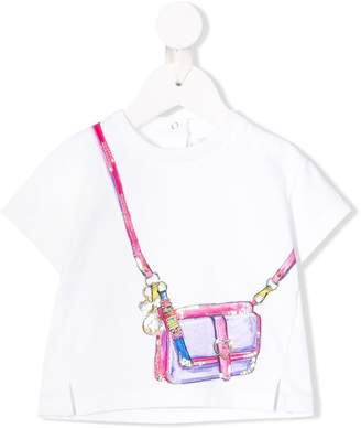 Moschino Kids trompe l'oeil bag print T-shirt