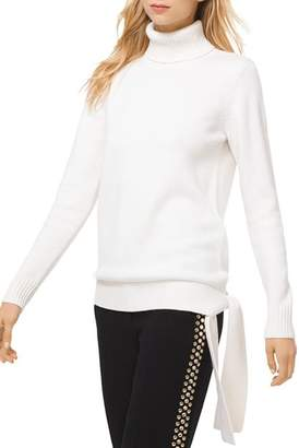 MICHAEL Michael Kors MICHAEL Turtleneck Side-Tie Sweater