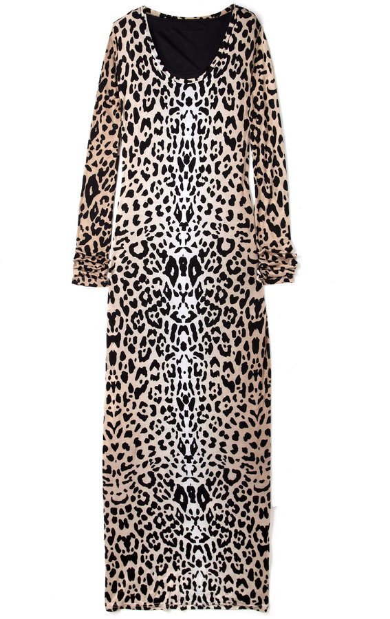 ALICE by Temperley Sand Renaissance Animal Print Maxi Dress