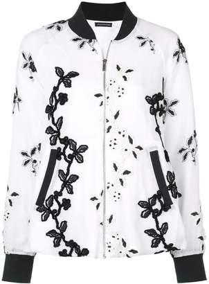 Natori embroidered bomber jacket