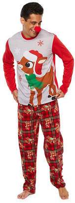 RUDOLPH THE RED NOSE REINDEER Rudolph The Red Nose Reindeer 2 Piece Pajama Set -Men's