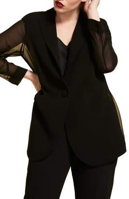 Marina Rinaldi Canarie Chiffon Sleeve Jacket