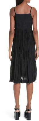 Comme des Garcons Pleated Chiffon Slipdress
