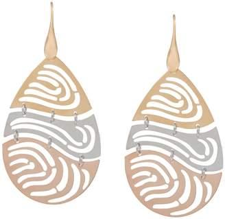 Bronzo Italia Pear-Shaped Openwork Dangle Earrings