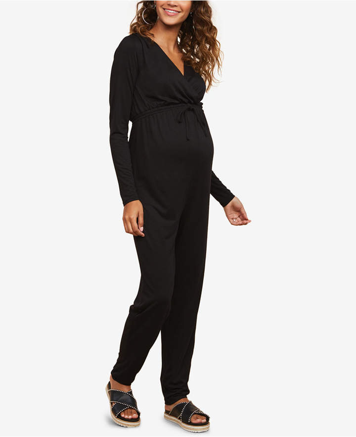 Motherhood Maternity Wrap Maternity Jumpsuit