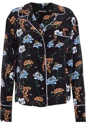 Markus Lupfer Floral-Print Silk Shirt